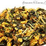 Dantu Soppu / Amaranth Leaves / Dento Bhaji Recipe