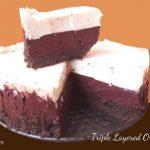 triple layered oreo cheese cake