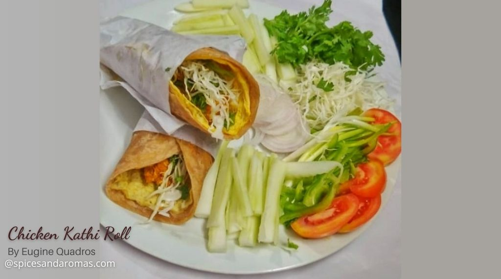 chicken kathi roll recipeeugine quadros  spices and